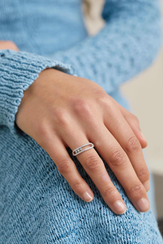 Messika Baby Move 18-karat white gold diamond ring