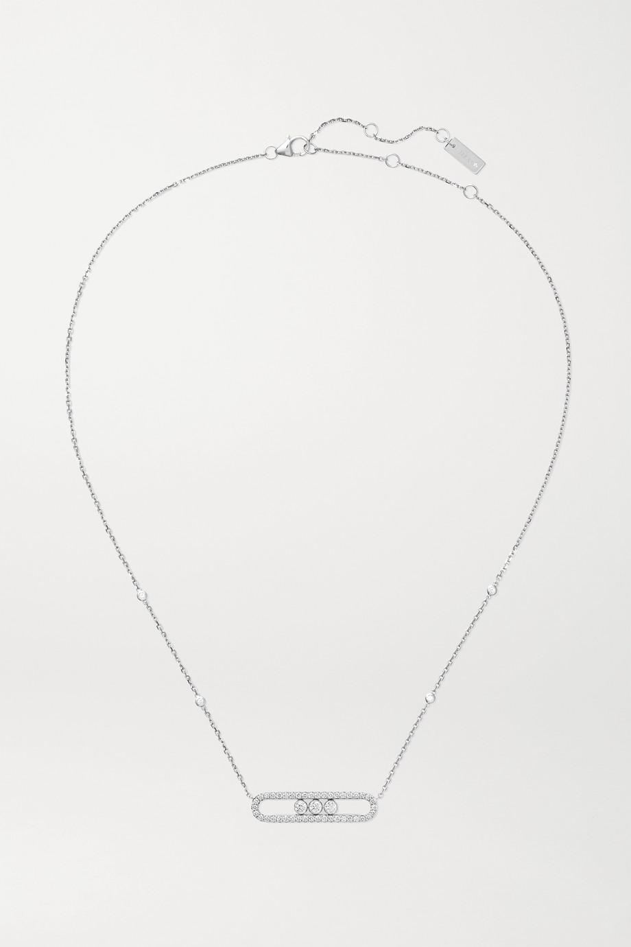 Messika Move Kette aus 18 Karat Weißgold mit Diamanten