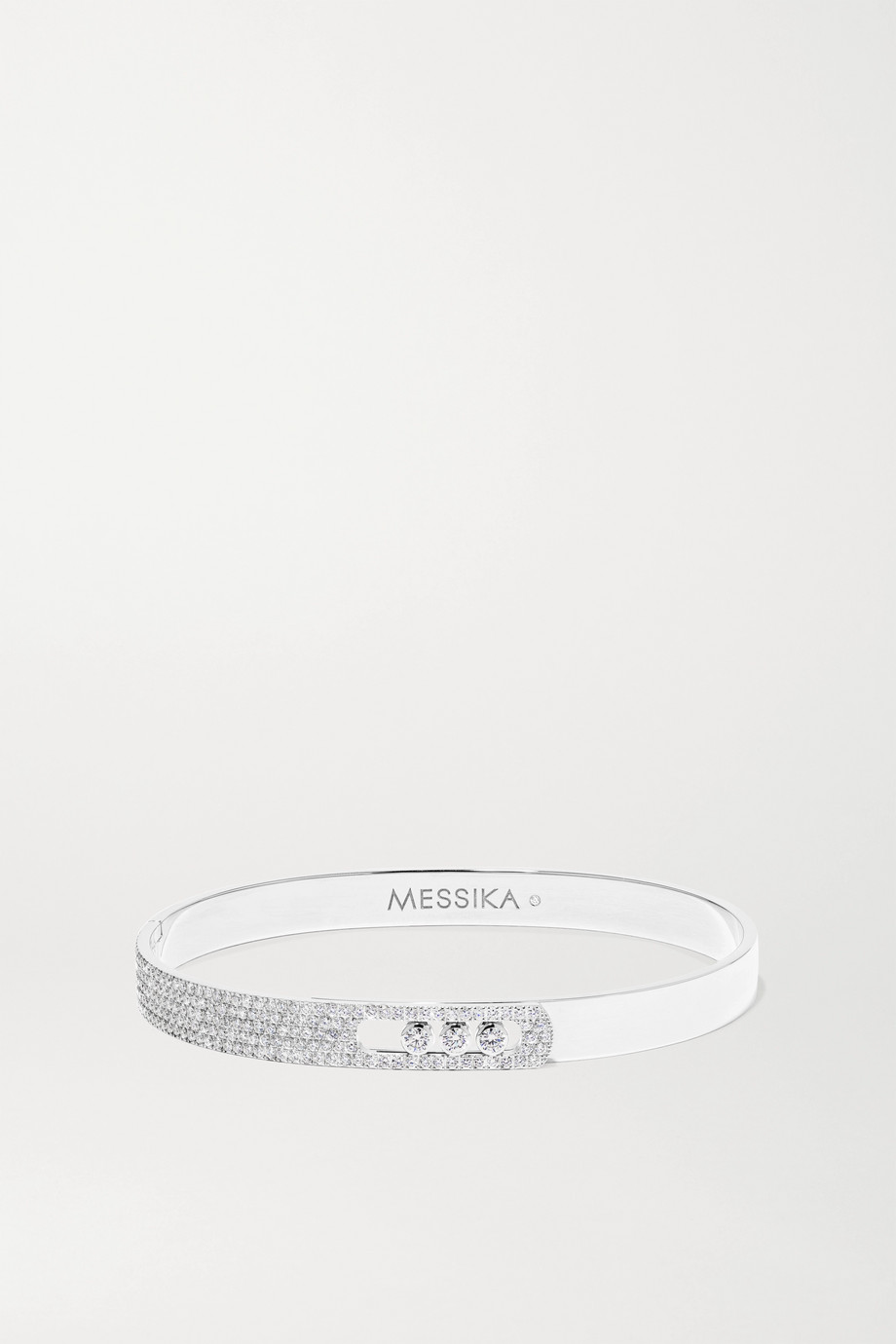 Messika Bracelet jonc en or blanc 18 carats et diamants Move Noa