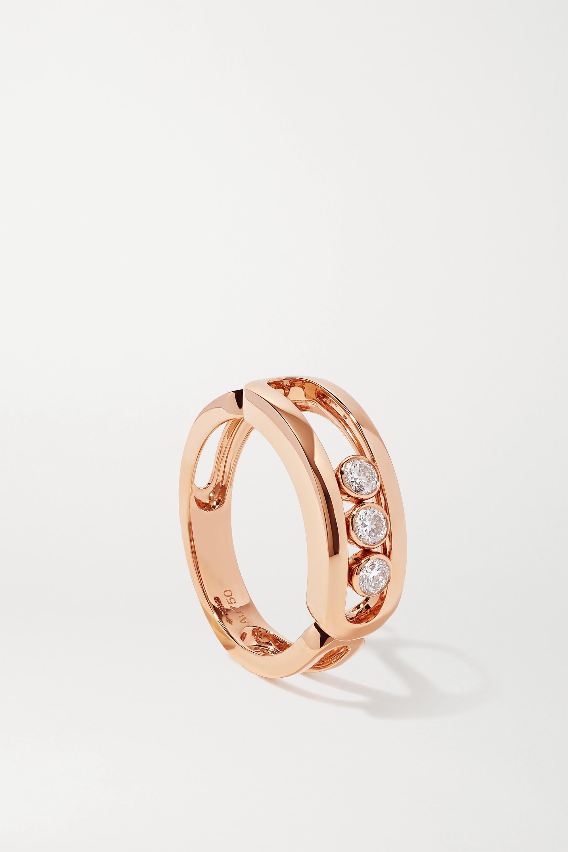Messika Move Classic Ring aus 18 Karat Roségold mit Diamanten