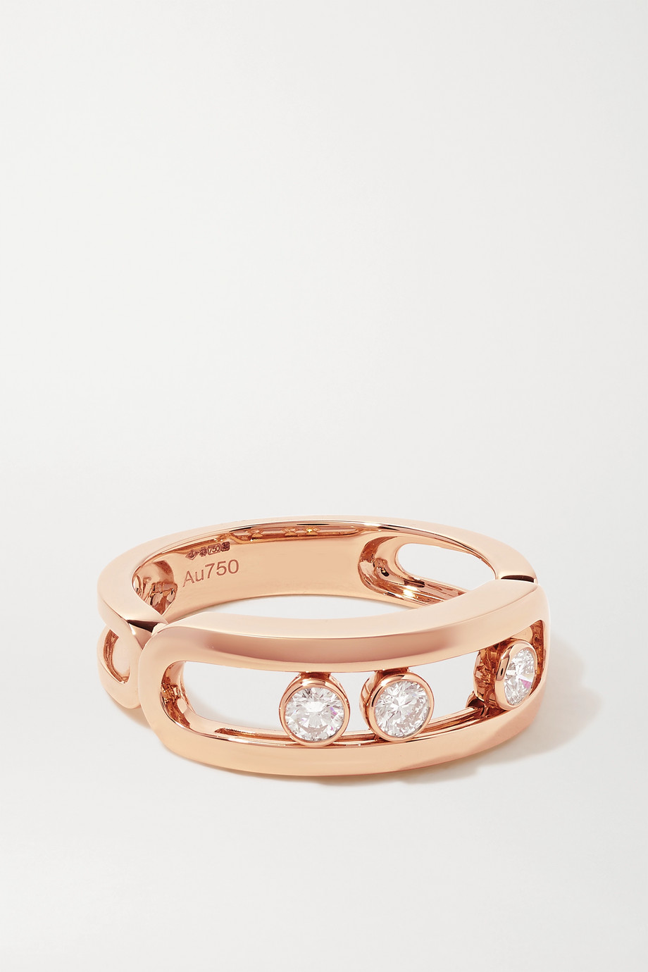 Messika Move Classic Ring aus 18 Karat Roségold mit Diamanten