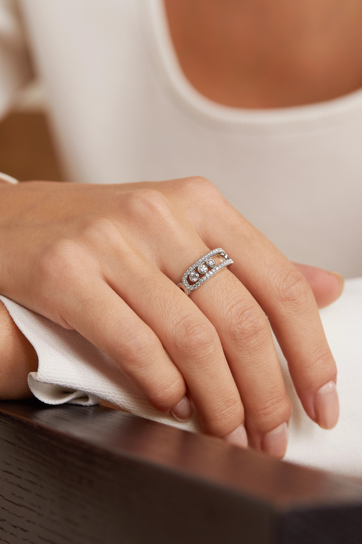 Messika Move Classic Pavé Ring aus 18 Karat Weißgold mit Diamanten