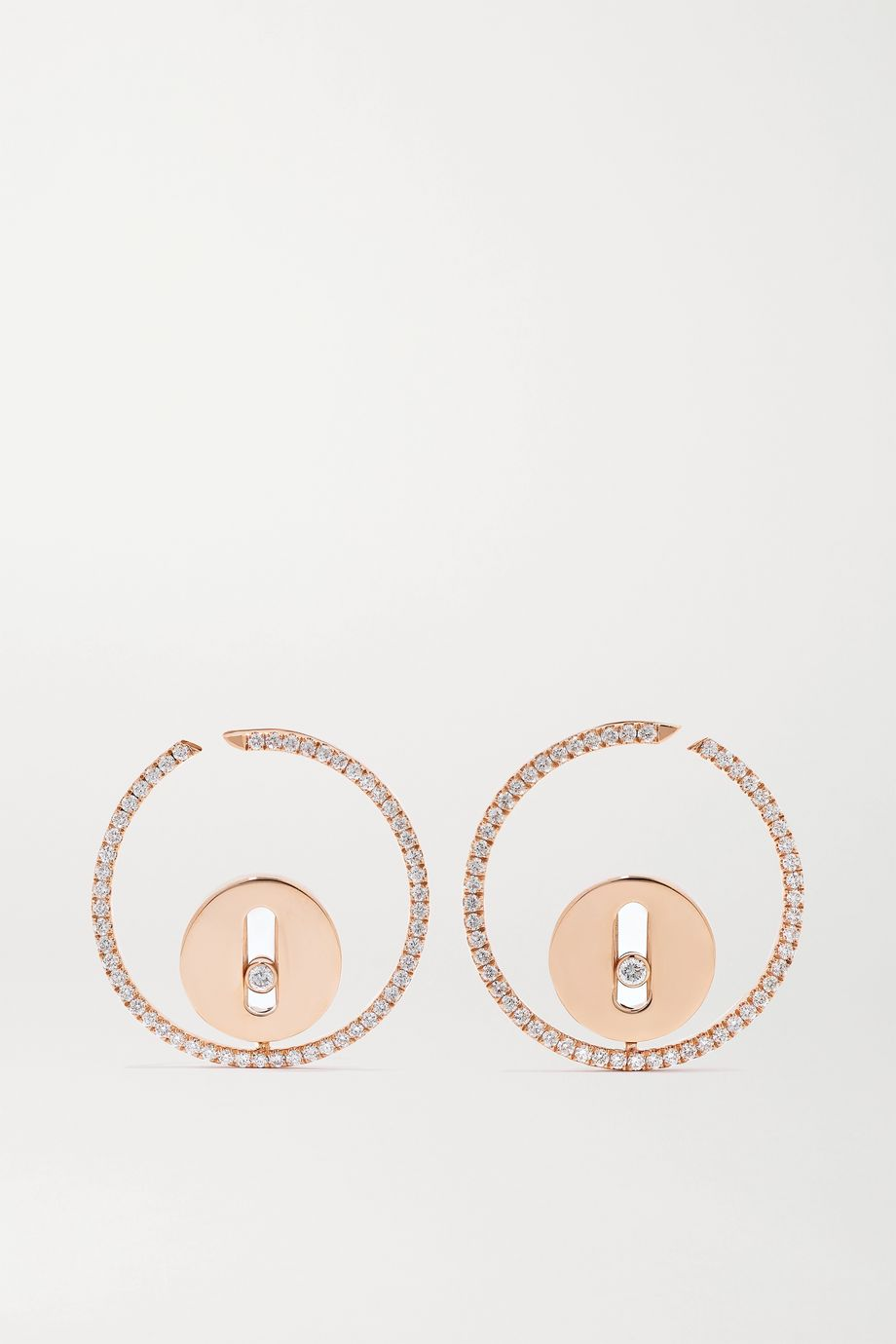 Messika Lucky Move 18-karat rose gold diamond earrings