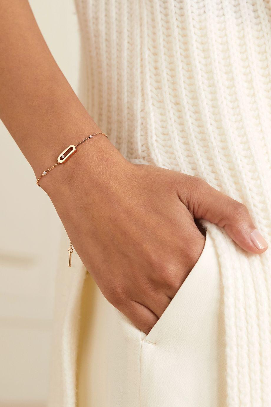 Messika Move Uno Armband aus 18 Karat Roségold mit Diamanten