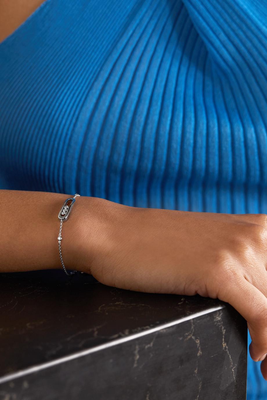 Messika Baby Move Armband aus 18 Karat Weißgold mit Diamanten