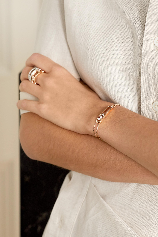 Messika Move Classique 18-karat rose gold diamond bracelet