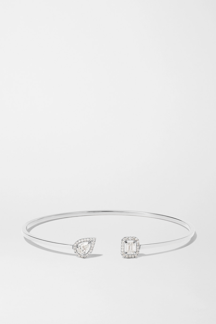 Messika Bracelet en or blanc 18 carats et diamants My Twin Toi & Moi
