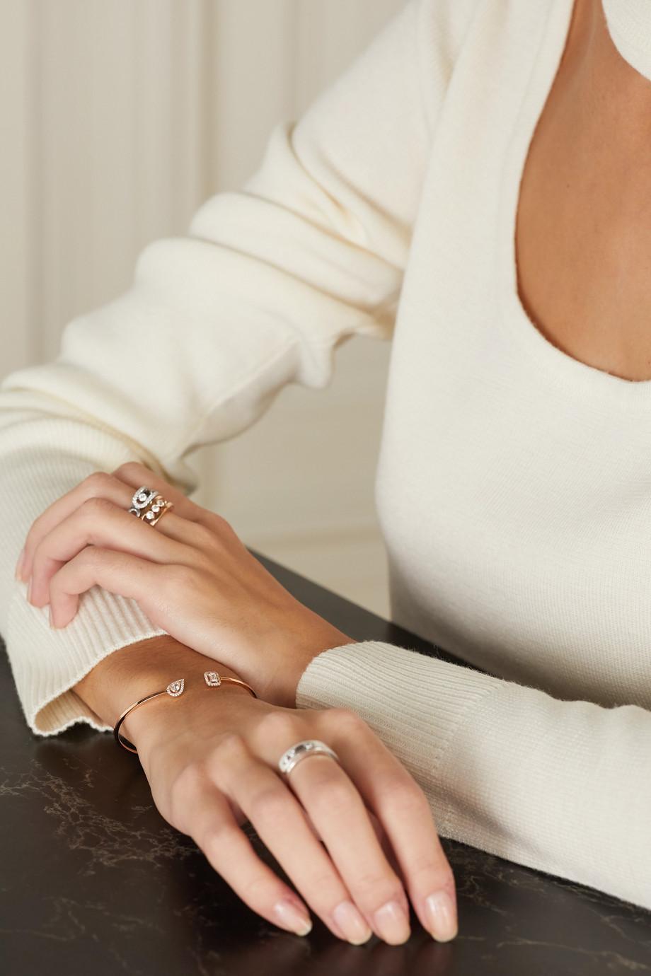 Messika My Twin Toi & Moi 18-karat rose gold diamond cuff