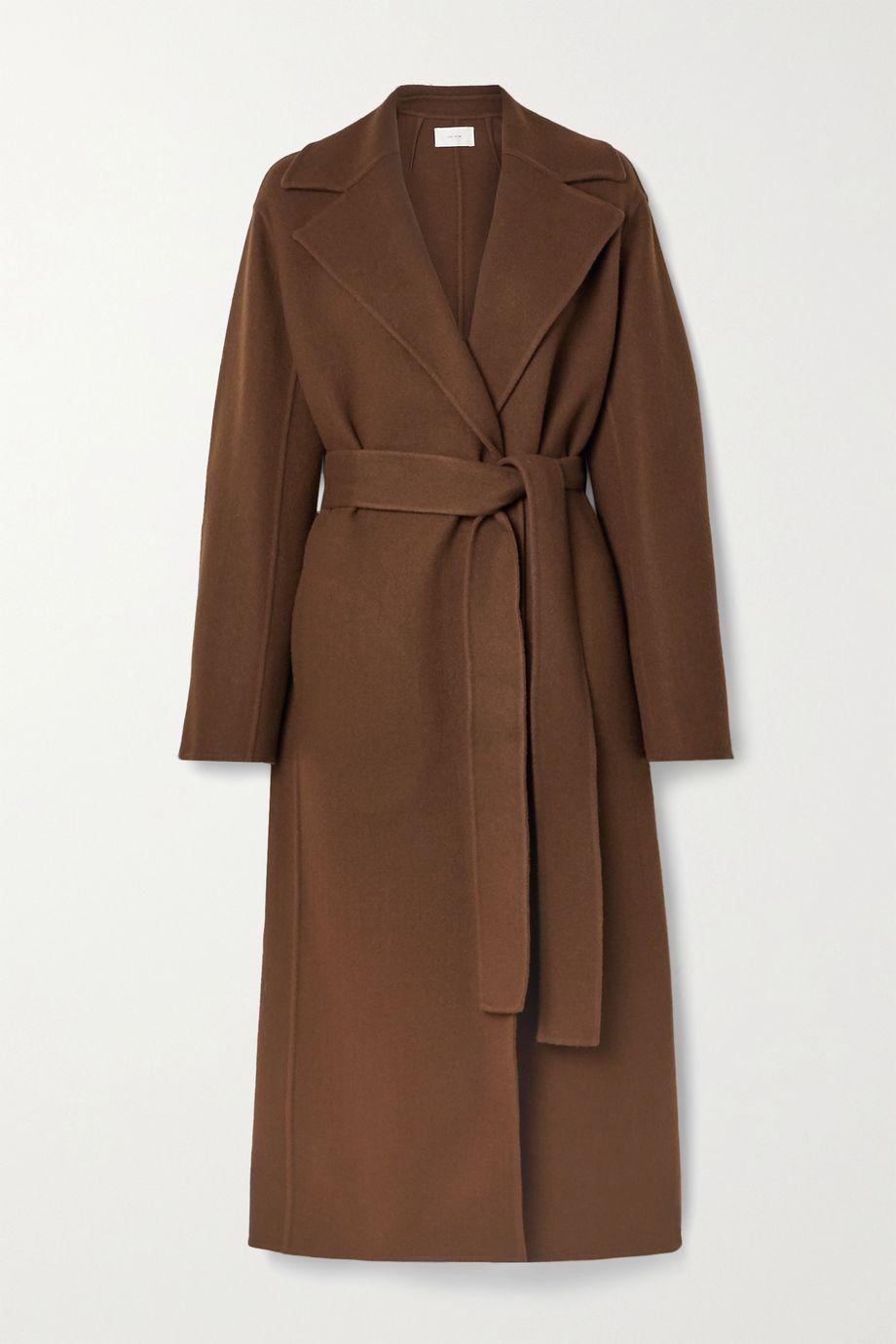The Row Malika belted wool-blend felt coat