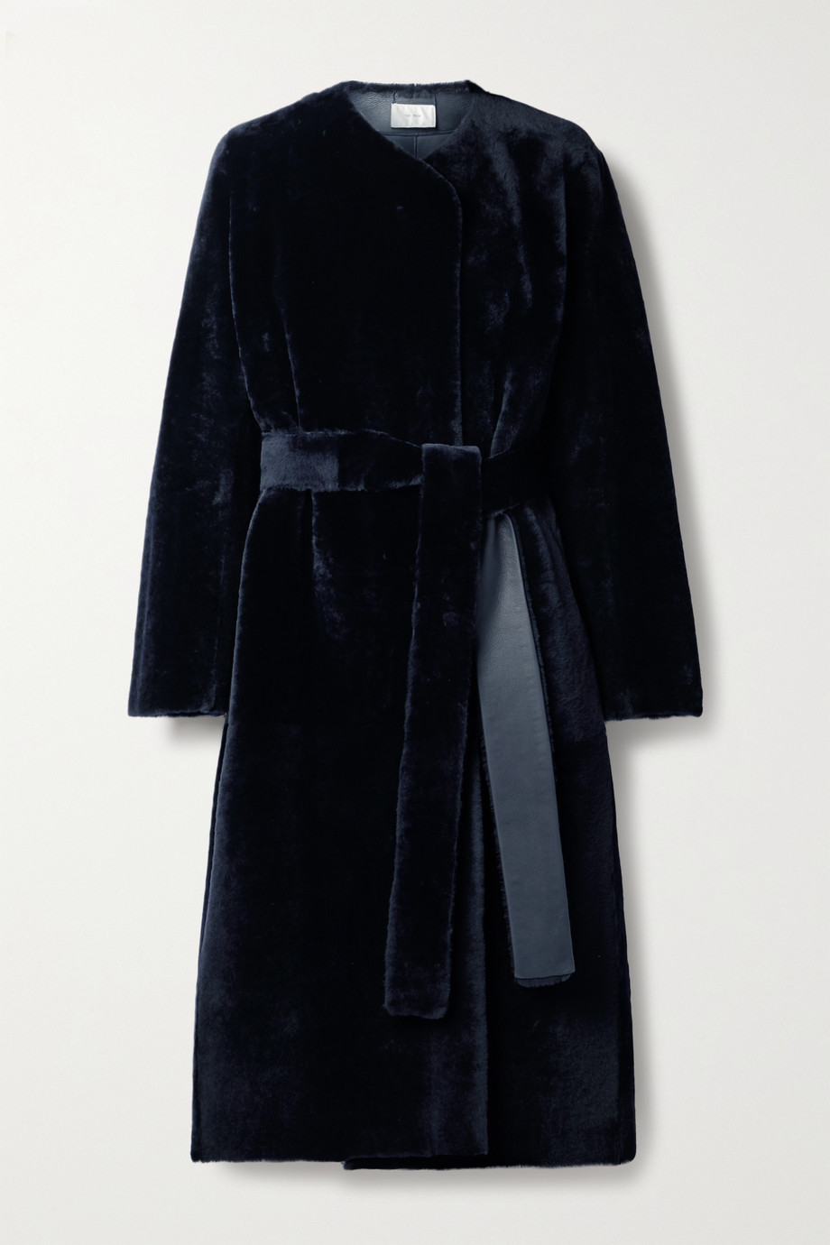 The Row Ferin belted shearling coat