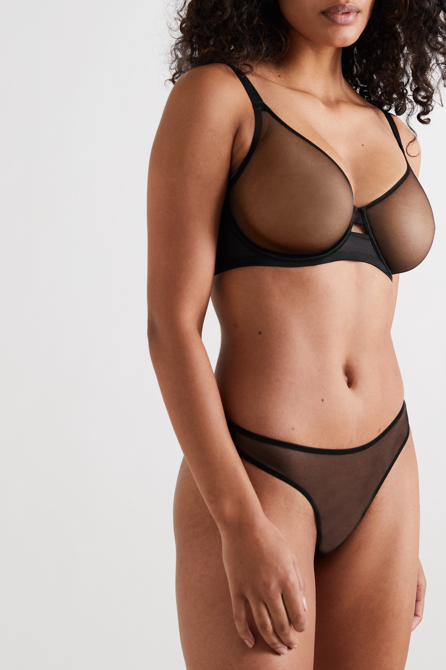 Agent Provocateur Lucky stretch-tulle and jersey underwired soft-cup bra