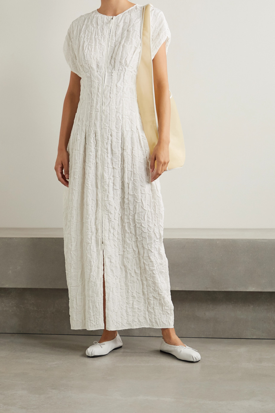 The Row Tamy cloqué maxi dress