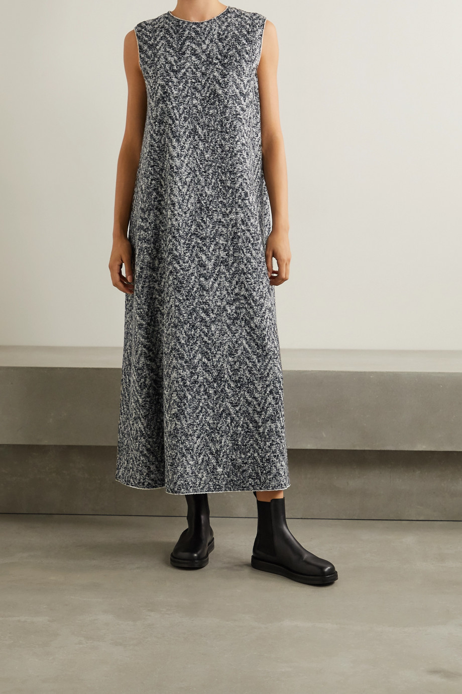 The Row Adda wool-blend bouclé midi dress
