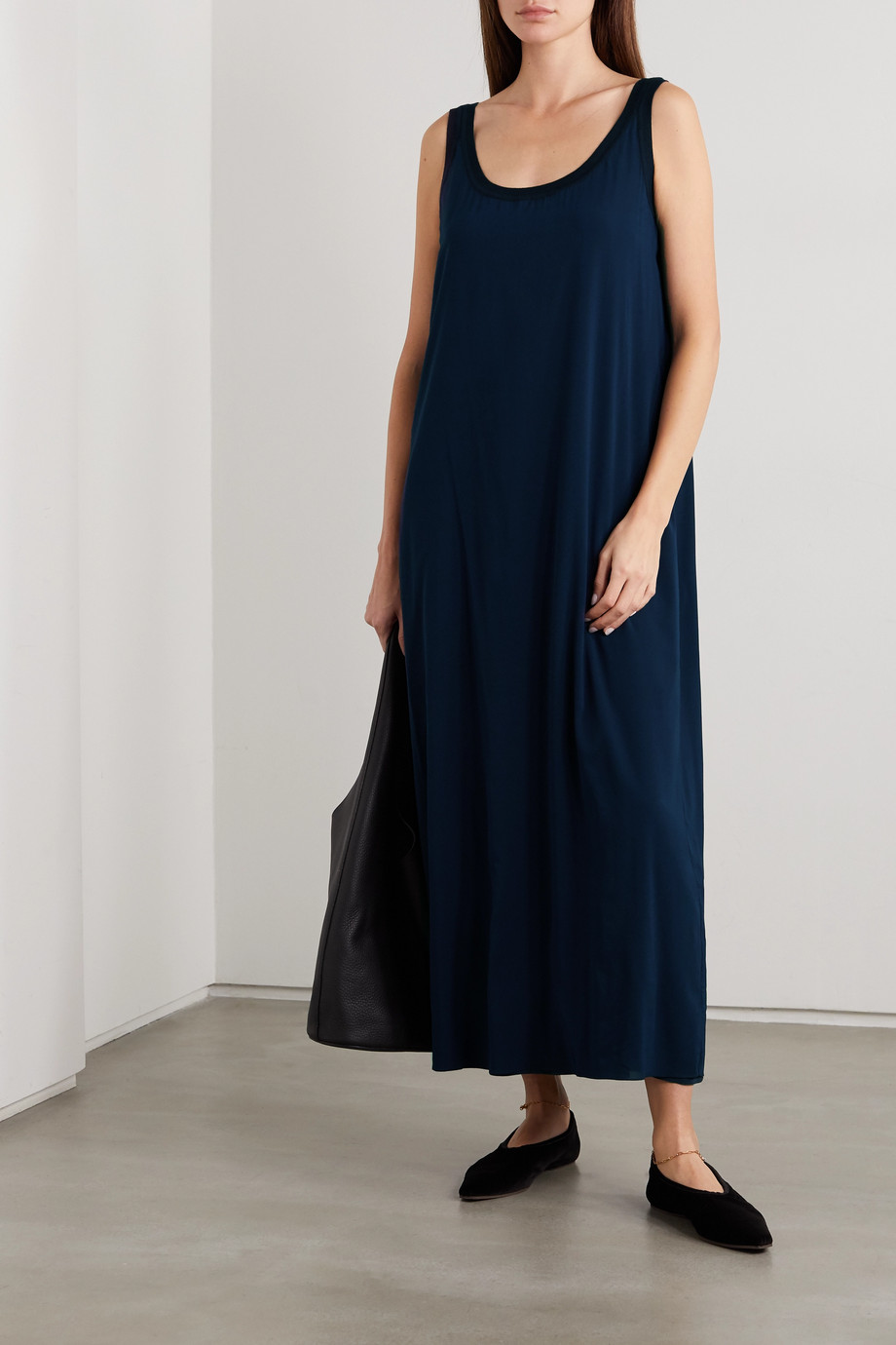 The Row Nette two-tone silk-blend maxi dress
