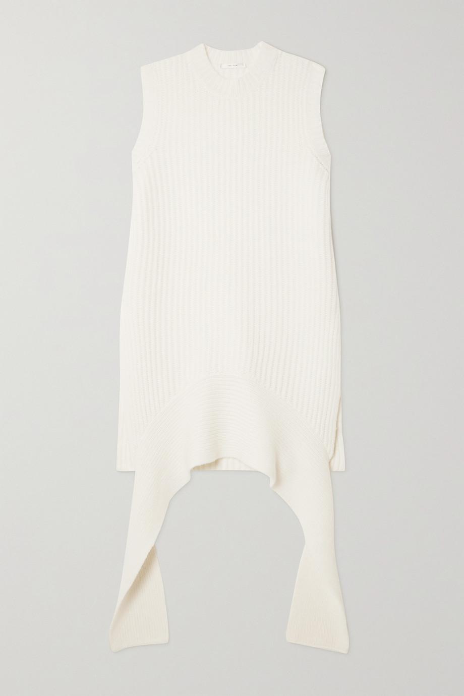 The Row Aretha draped ribbed cashmere tank