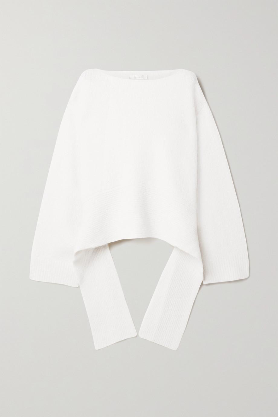 The Row Alyssa asymmetric cashmere-blend sweater