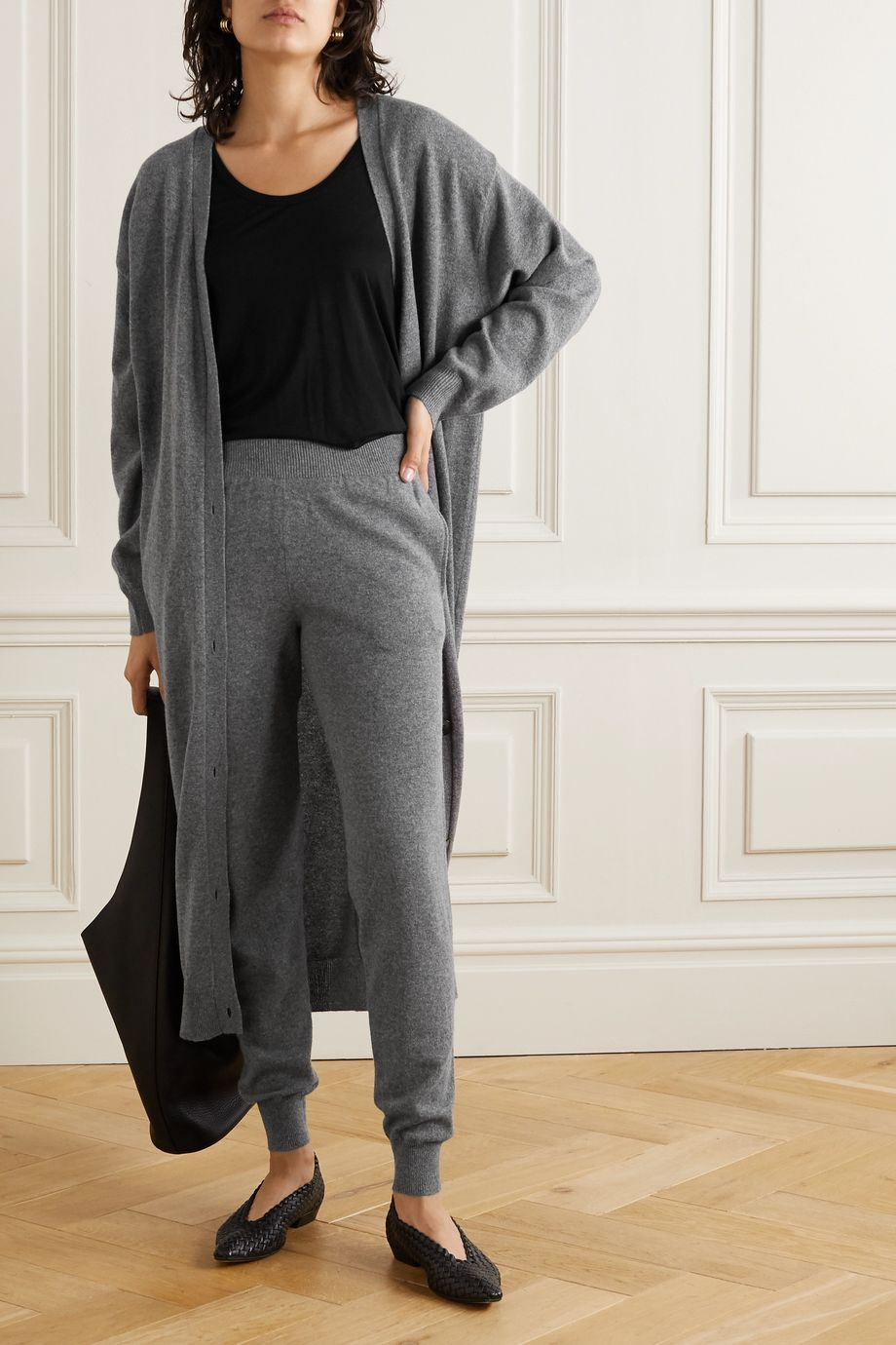 The Row Ardo cashmere track pants