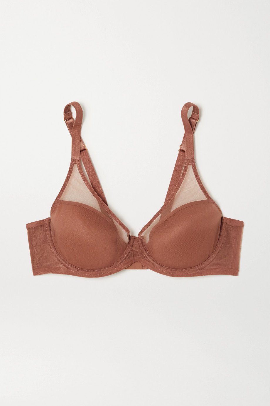 Agent Provocateur Lucky stretch mesh-trimmed microfiber underwired bra