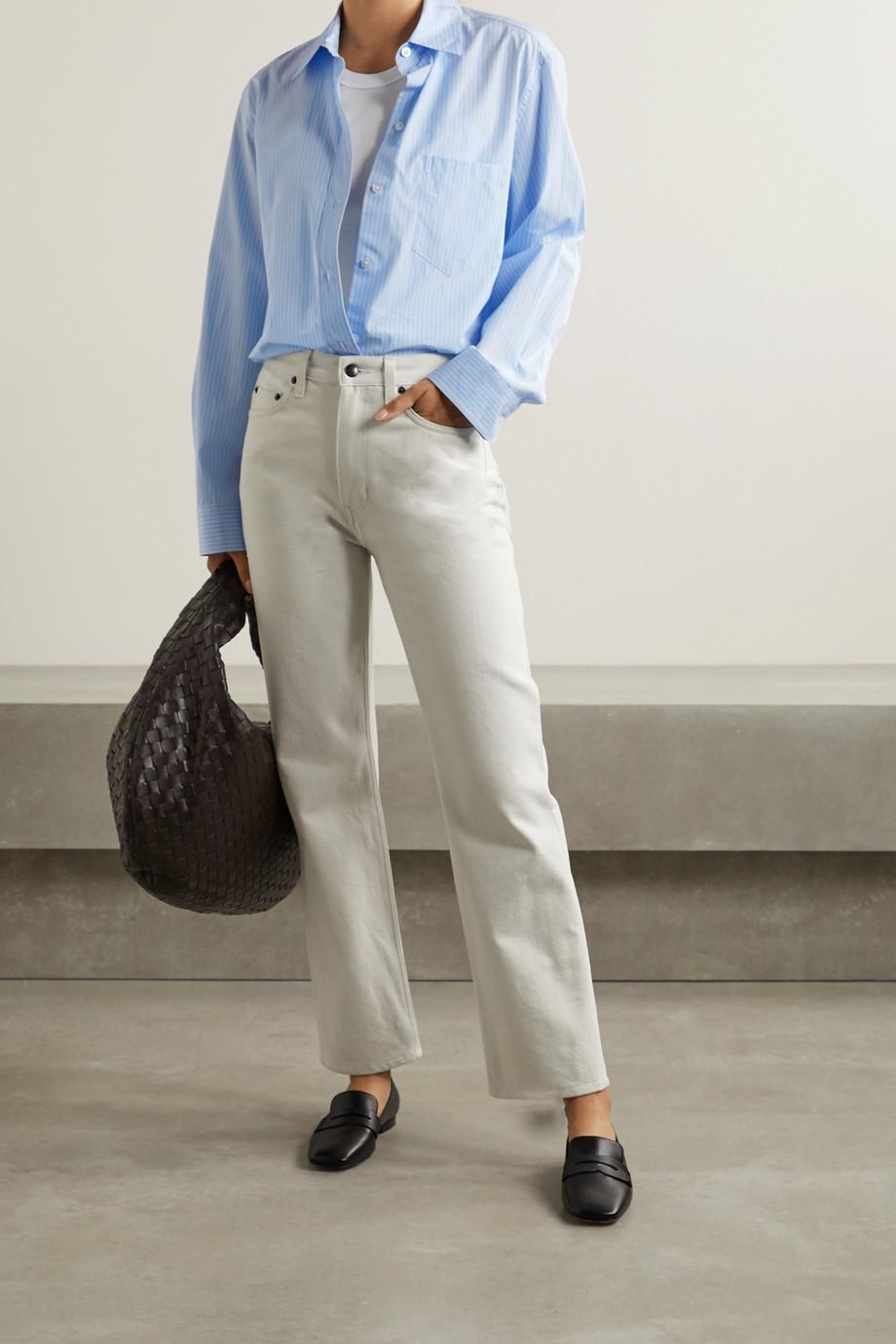 The Row Rean striped cotton-poplin shirt