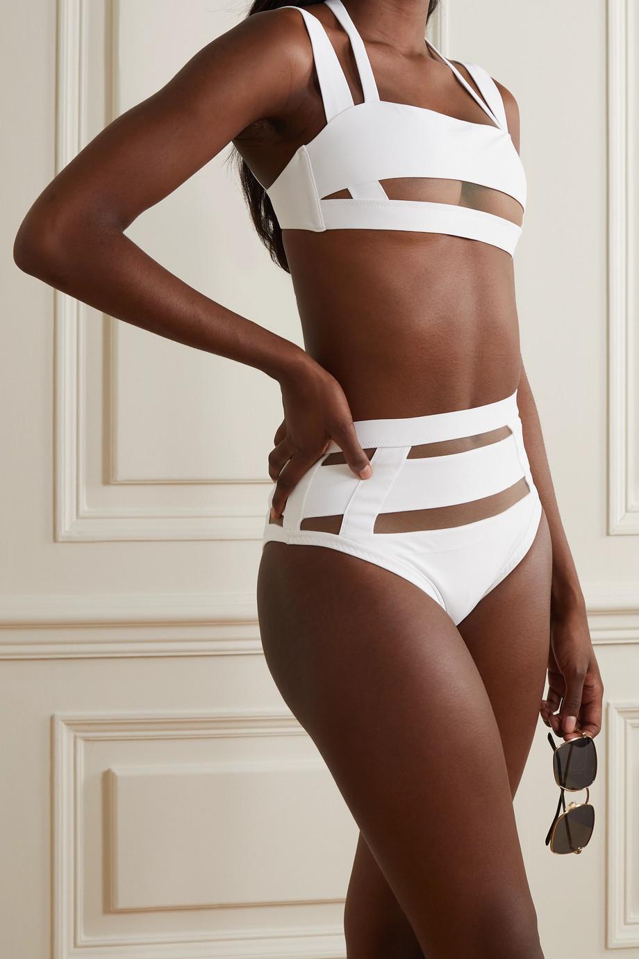 Agent Provocateur Fynlee Bikini-Oberteil mit Mesh-Einsätzen