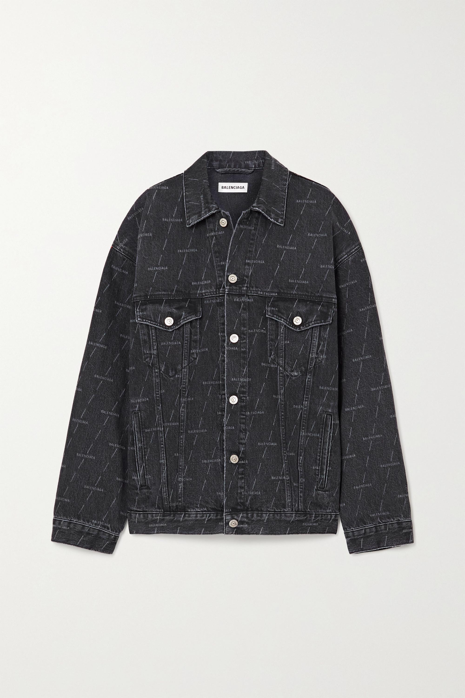 Balenciaga Oversized printed denim jacket