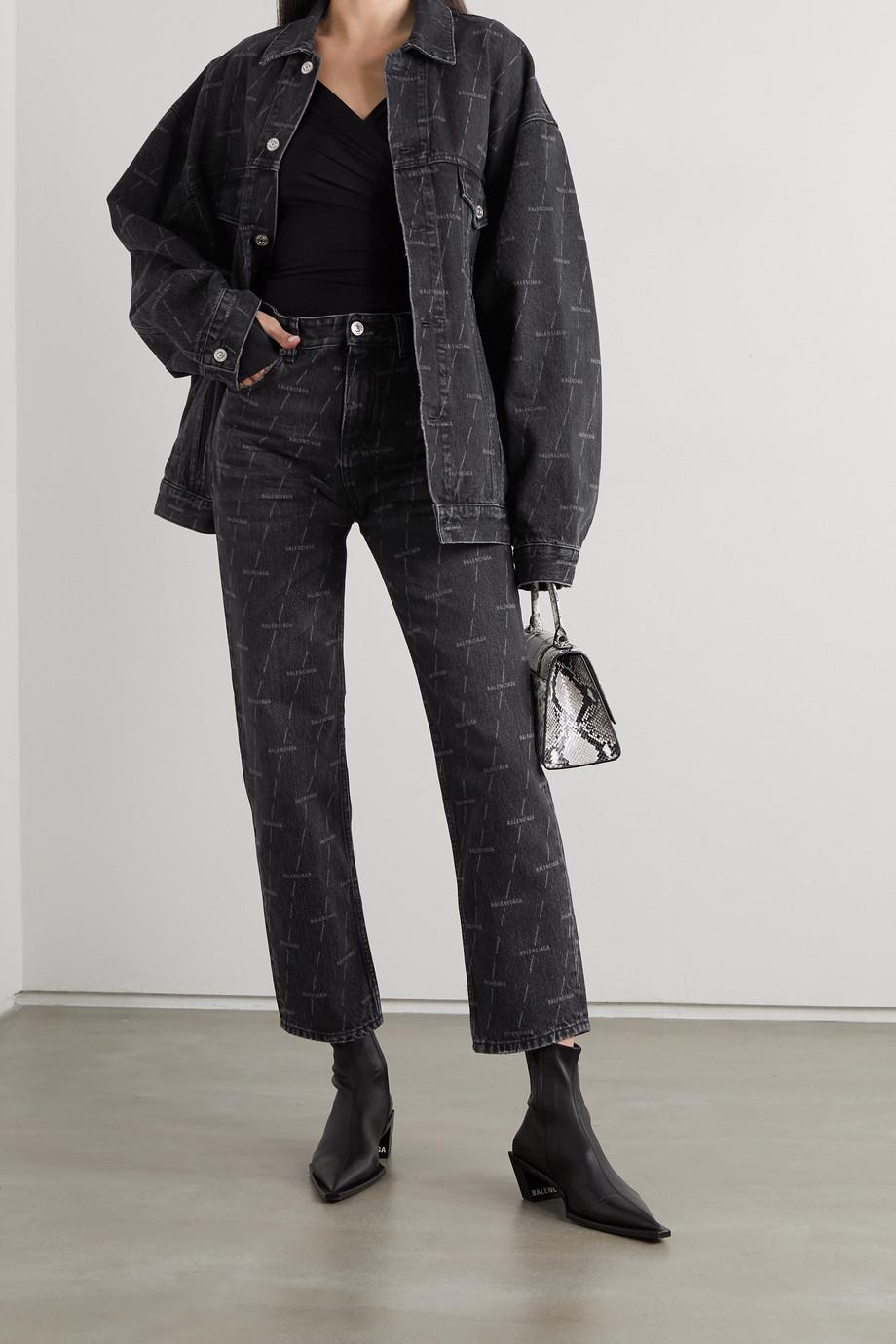 Balenciaga Printed high-rise straight-leg jeans