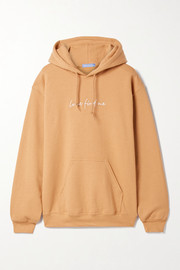 Paradised + NET SUSTAIN embroidered cotton-blend jersey hoodie