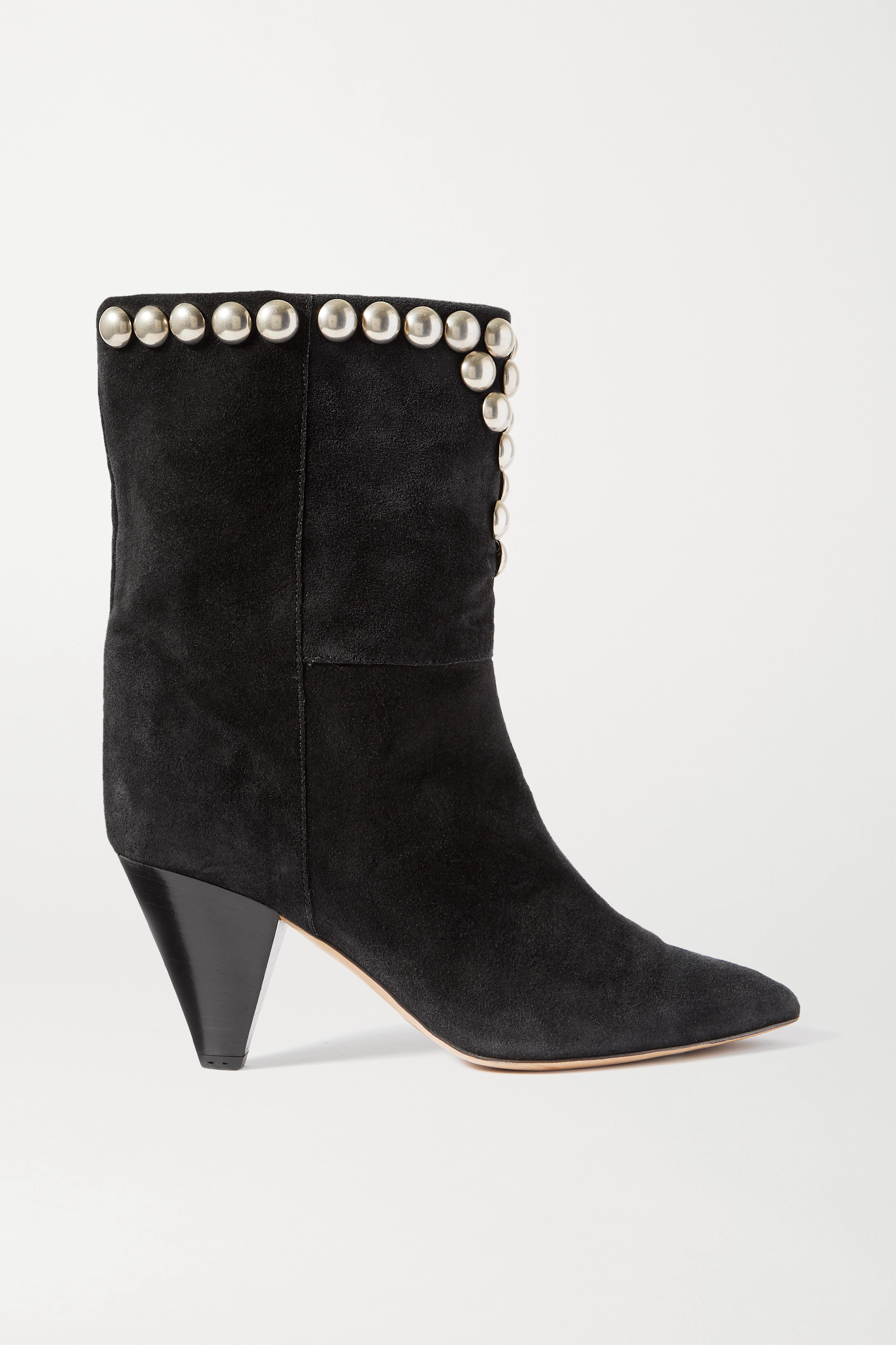 Isabel Marant Lunee studded suede ankle boots