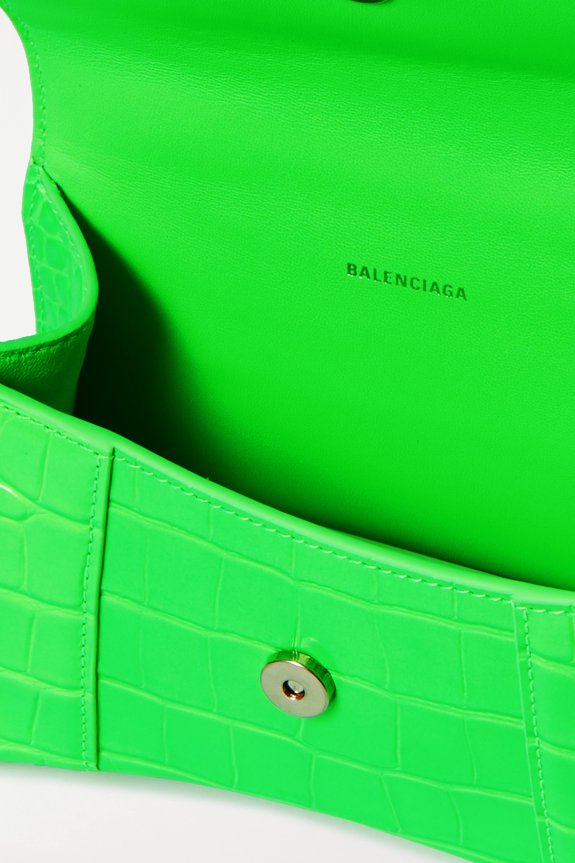 Balenciaga Hourglass XS croc-effect leather tote