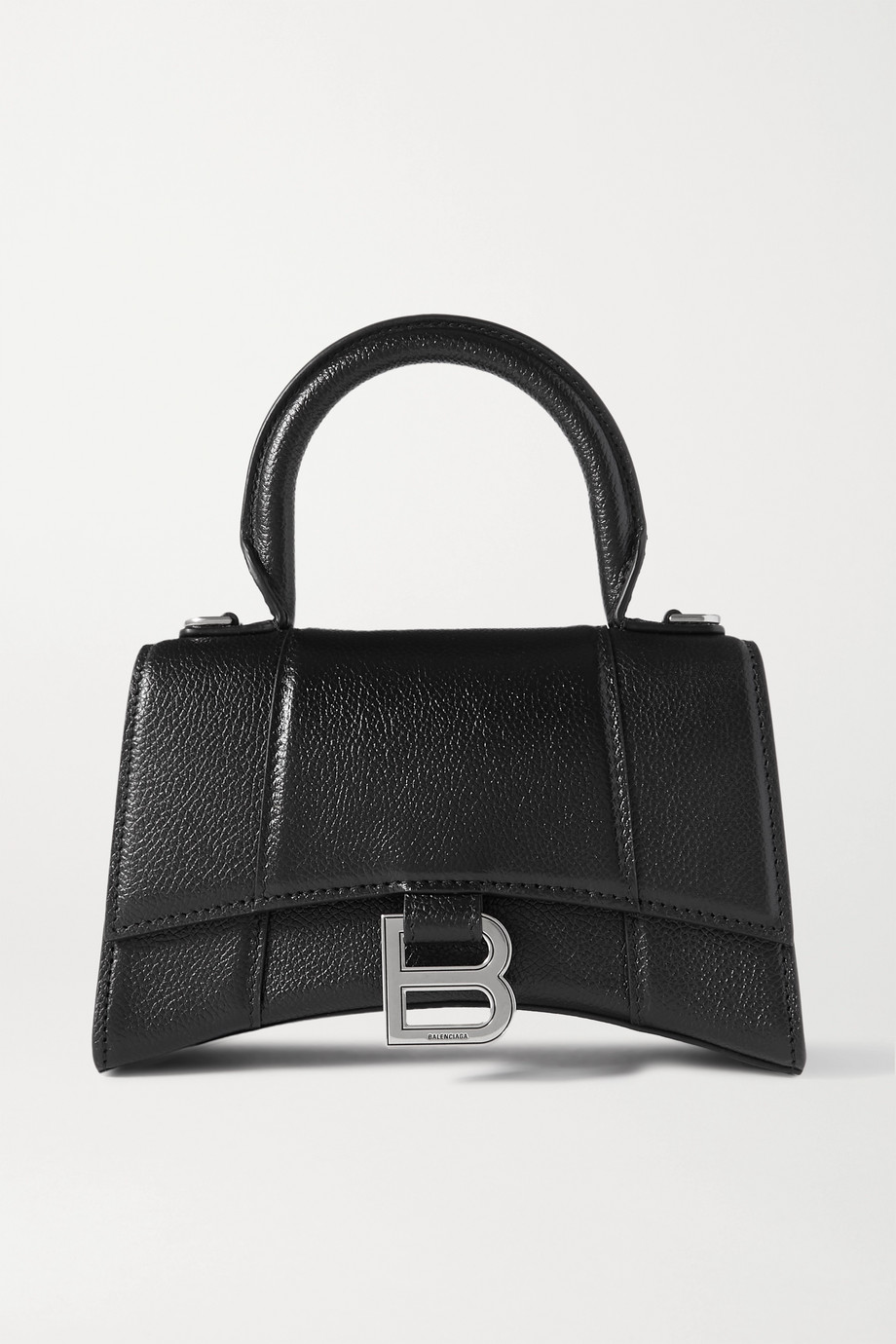 Balenciaga Hourglass XS textured-leather tote