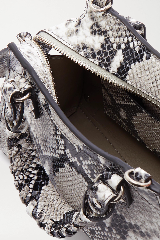 Balenciaga Neo Classic City mini snake-effect leather tote