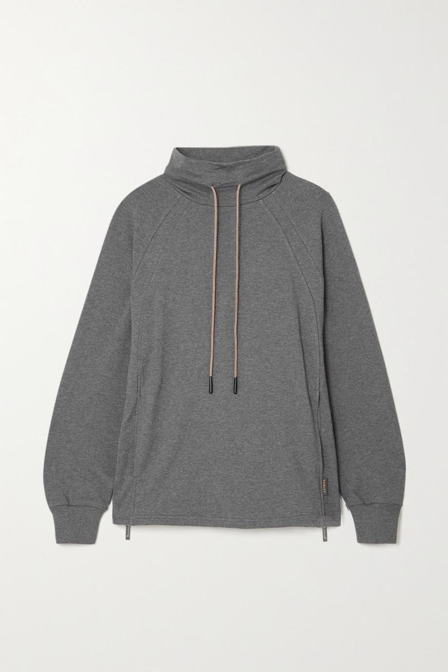 Varley Atlas zip-detailed mélange cotton-blend jersey sweatshirt