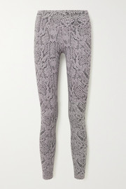 Varley Century snake-print stretch leggings