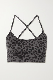 Varley Irena animal-print stretch sports bra