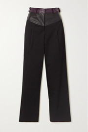 Christopher Esber Maverick twill and leather straight-leg pants