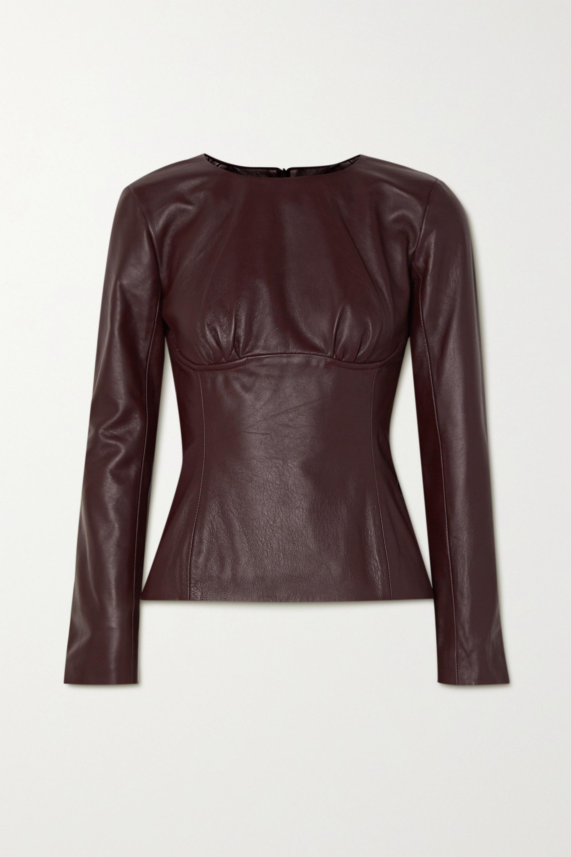 Christopher Esber Charli gathered leather top