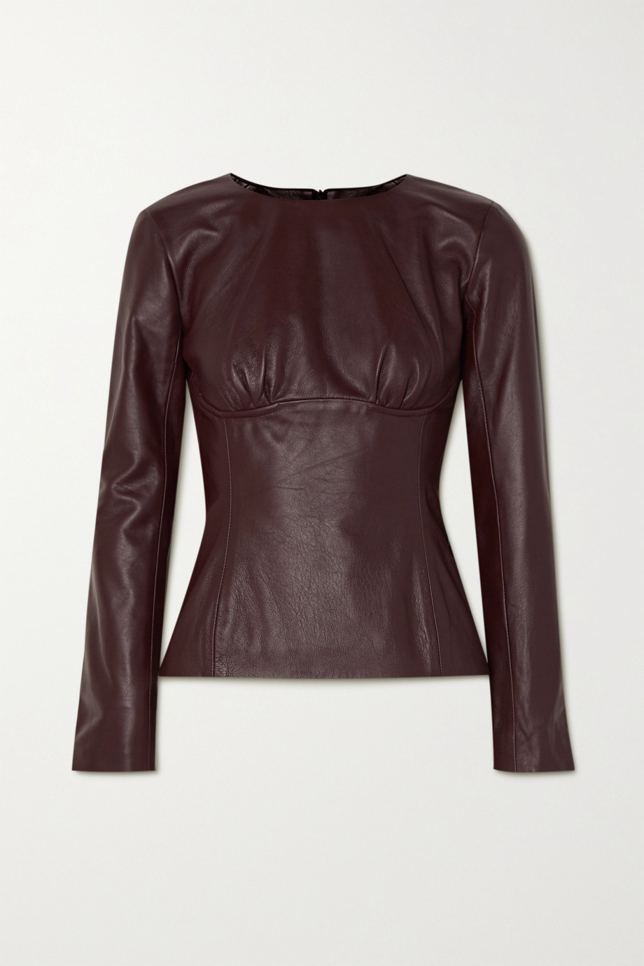 Christopher Esber Charli gathered leather top