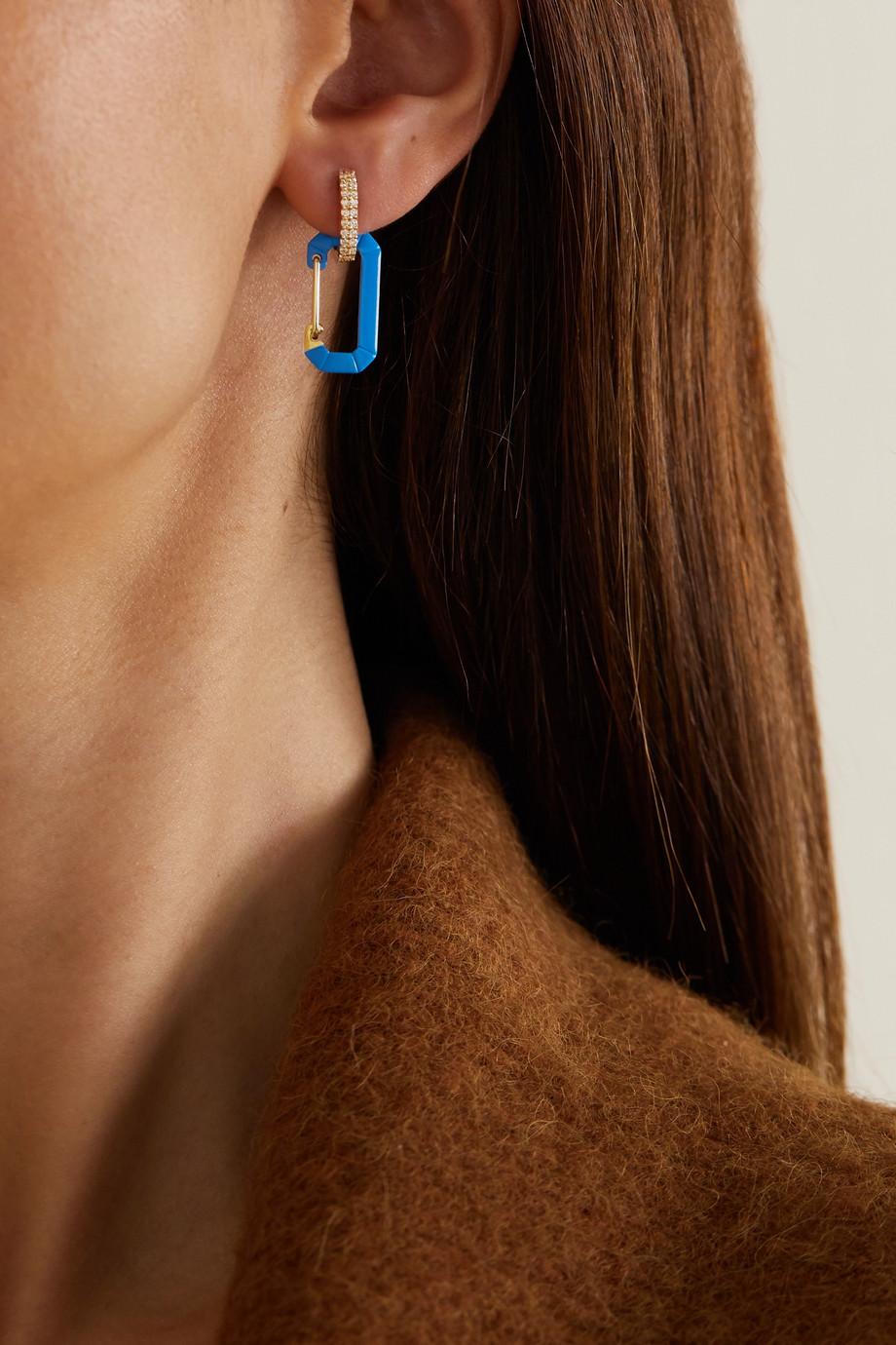 EÉRA Chiara gold and silver diamond earring