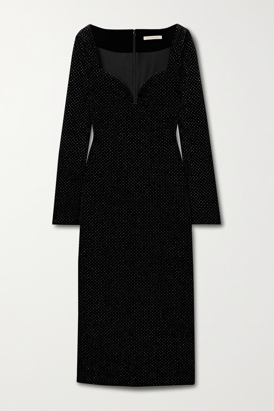 Christopher Kane Glittered velvet midi dress