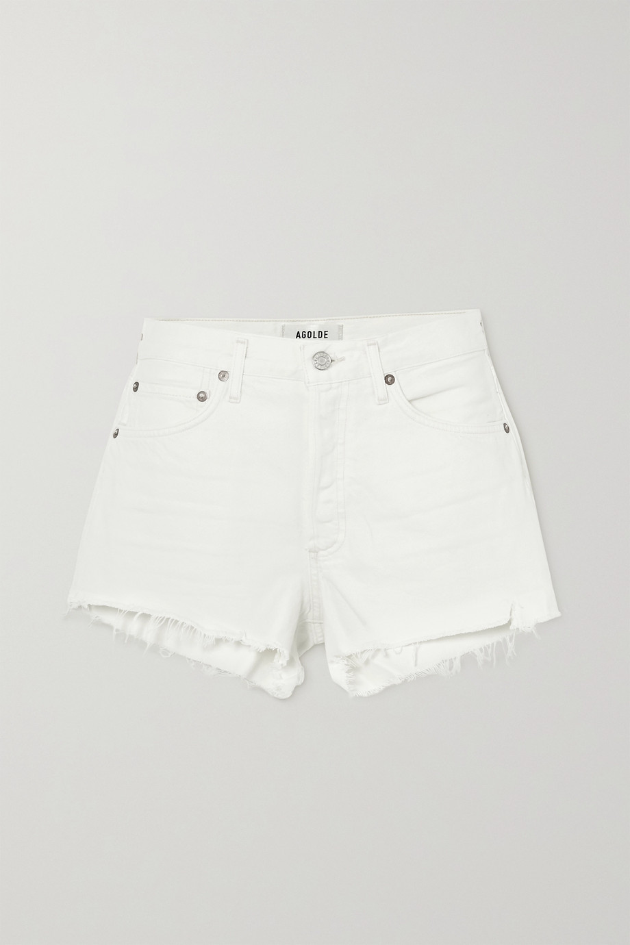 AGOLDE Parker Jeansshorts in Distressed-Optik