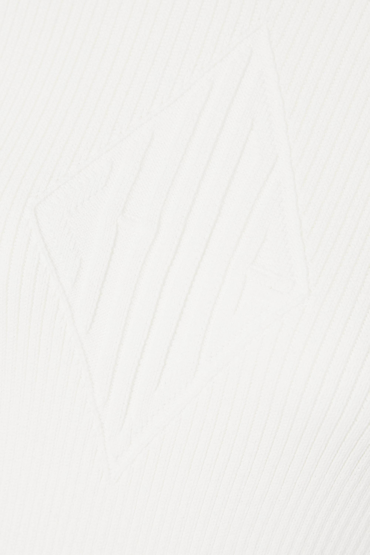 Chloé Pull en laine côtelée bicolore à fermetures à glissière x Fusalp