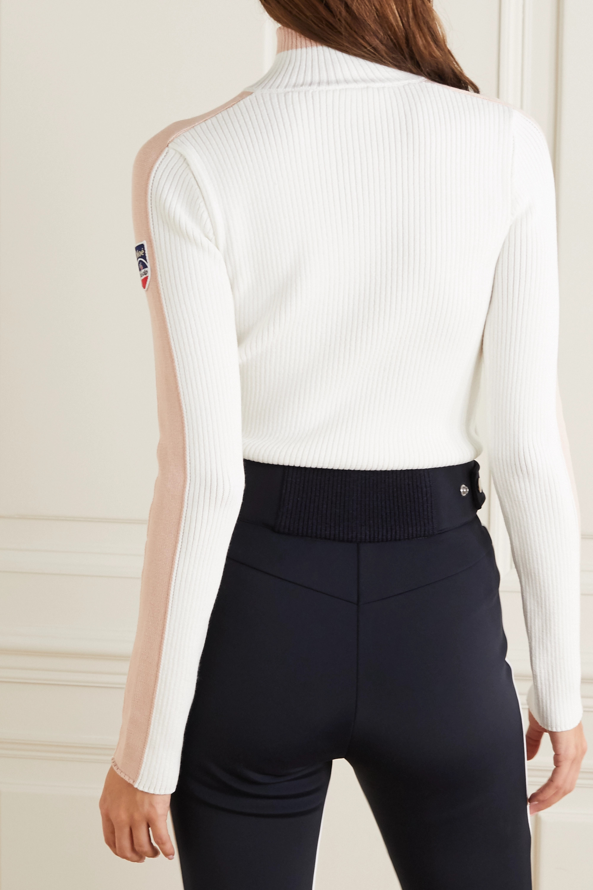 Chloé + Fusalp color-block ribbed wool sweater