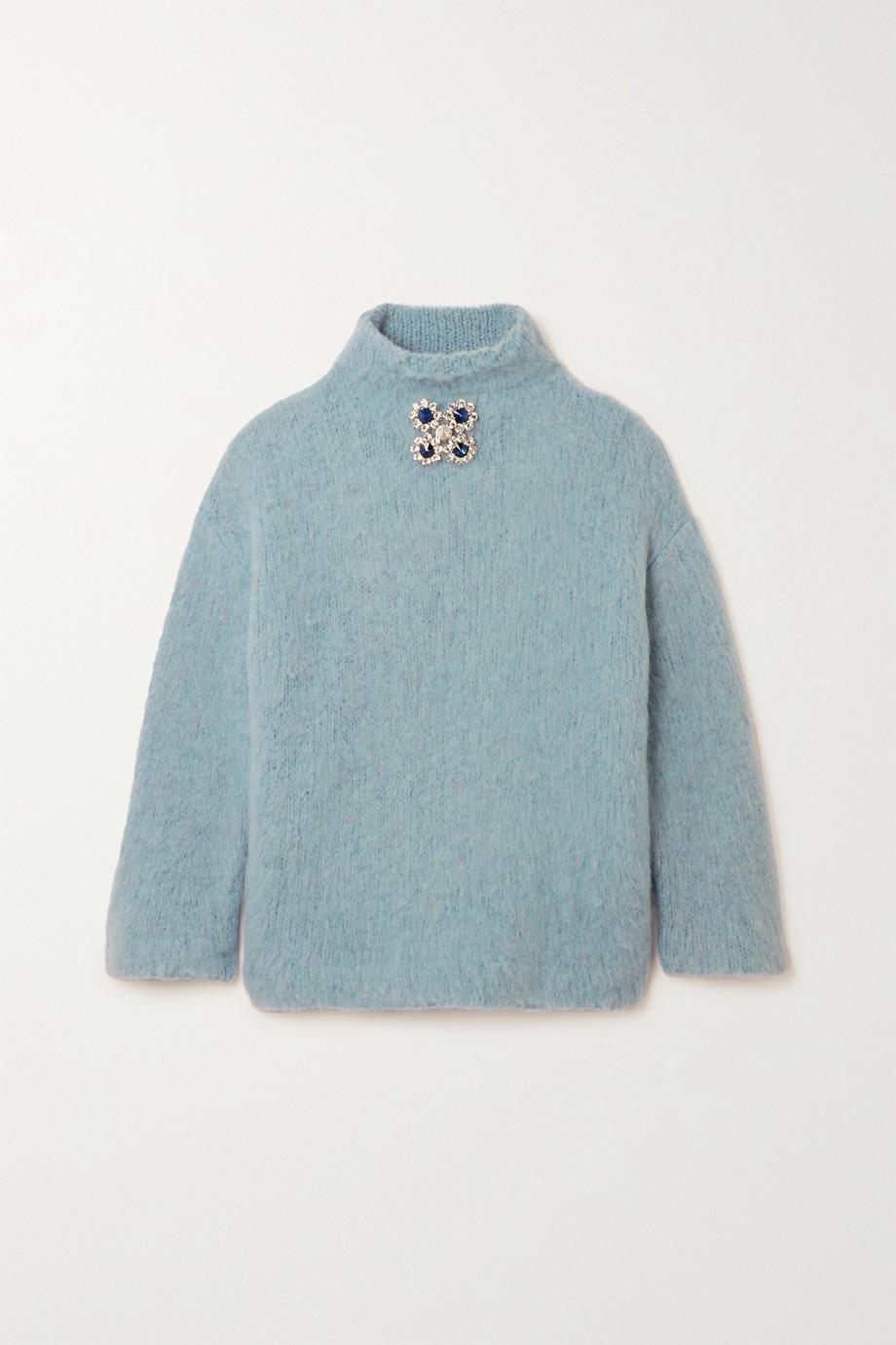 Christopher Kane 水晶缀饰羊毛混纺大毛圈布毛衣