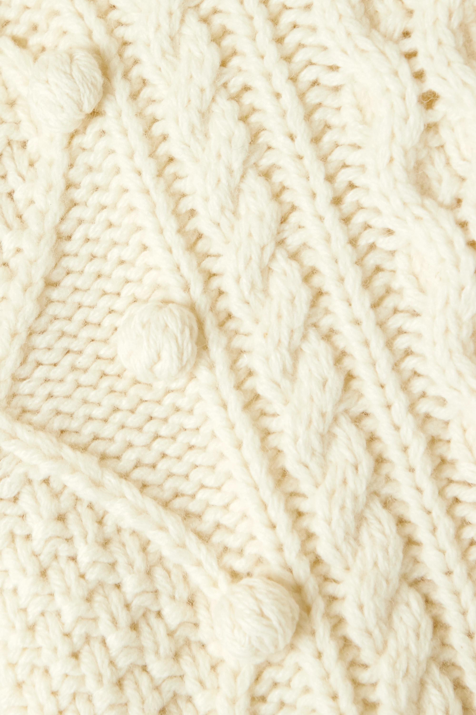 Christopher Kane Oversized-Zopfstrickpullover aus einer Wollmischung