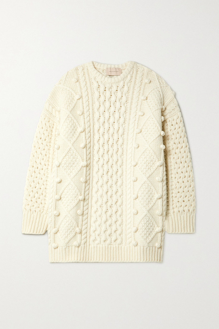 Christopher Kane Oversized cable-knit wool-blend sweater