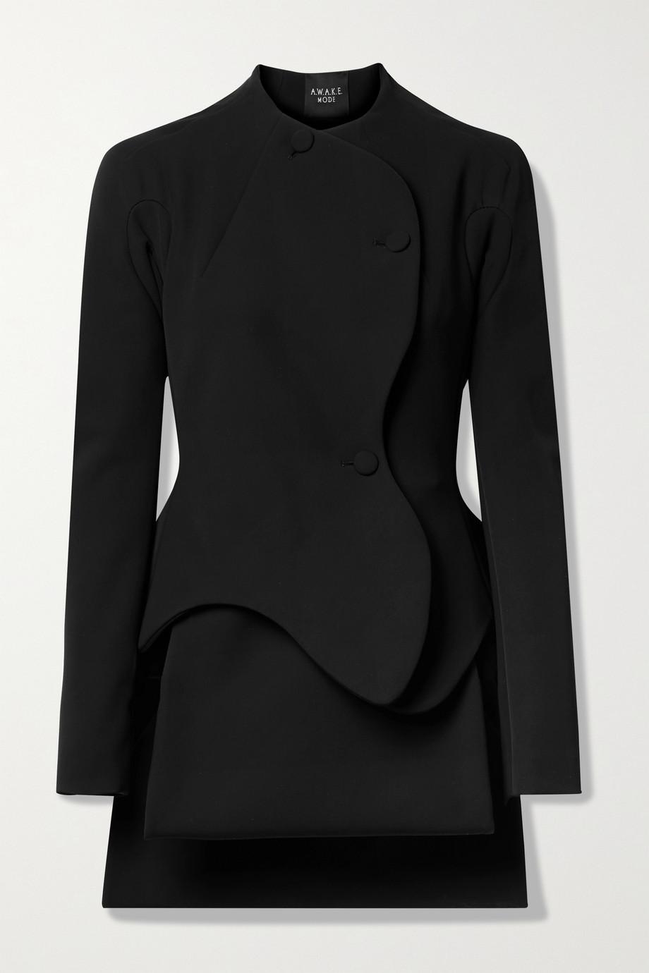 A.W.A.K.E. MODE Layered stretch-cady jacket