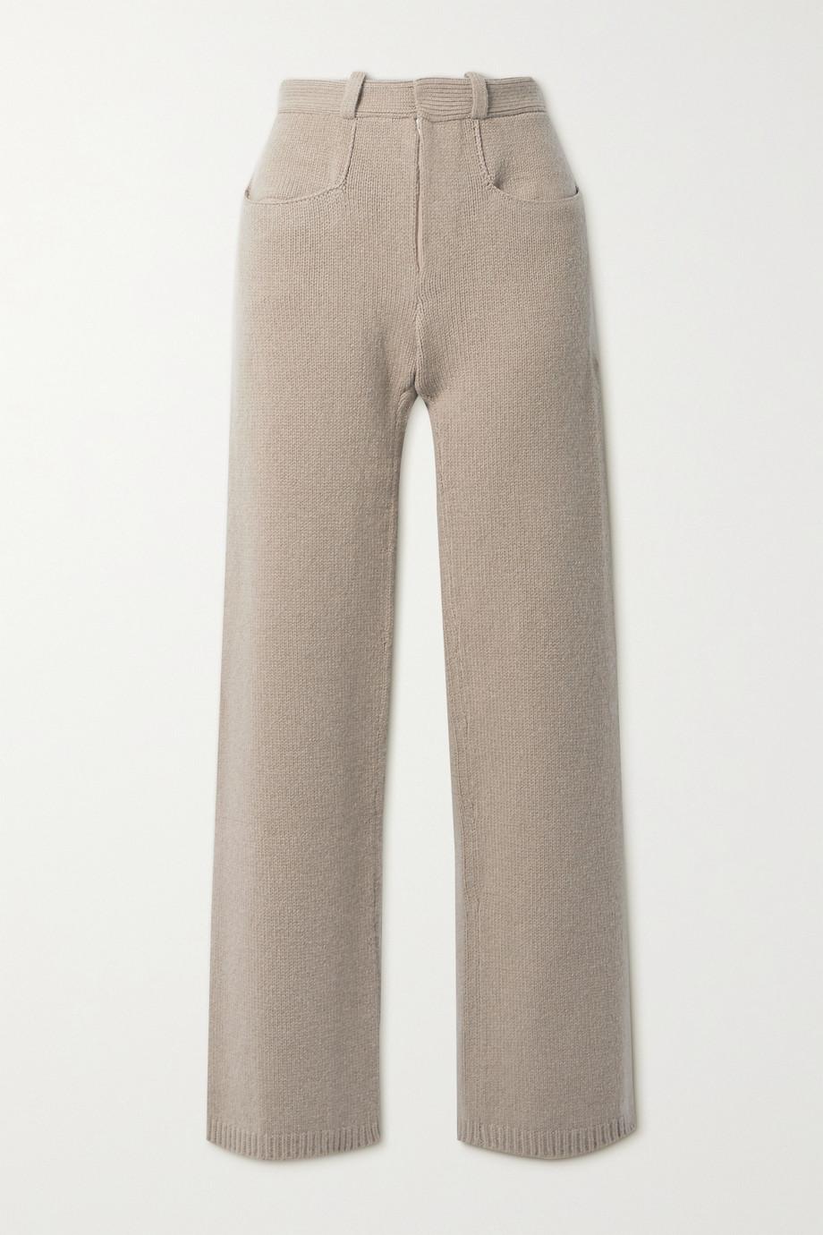 Deveaux Pearl 羊毛羊绒混纺直筒裤