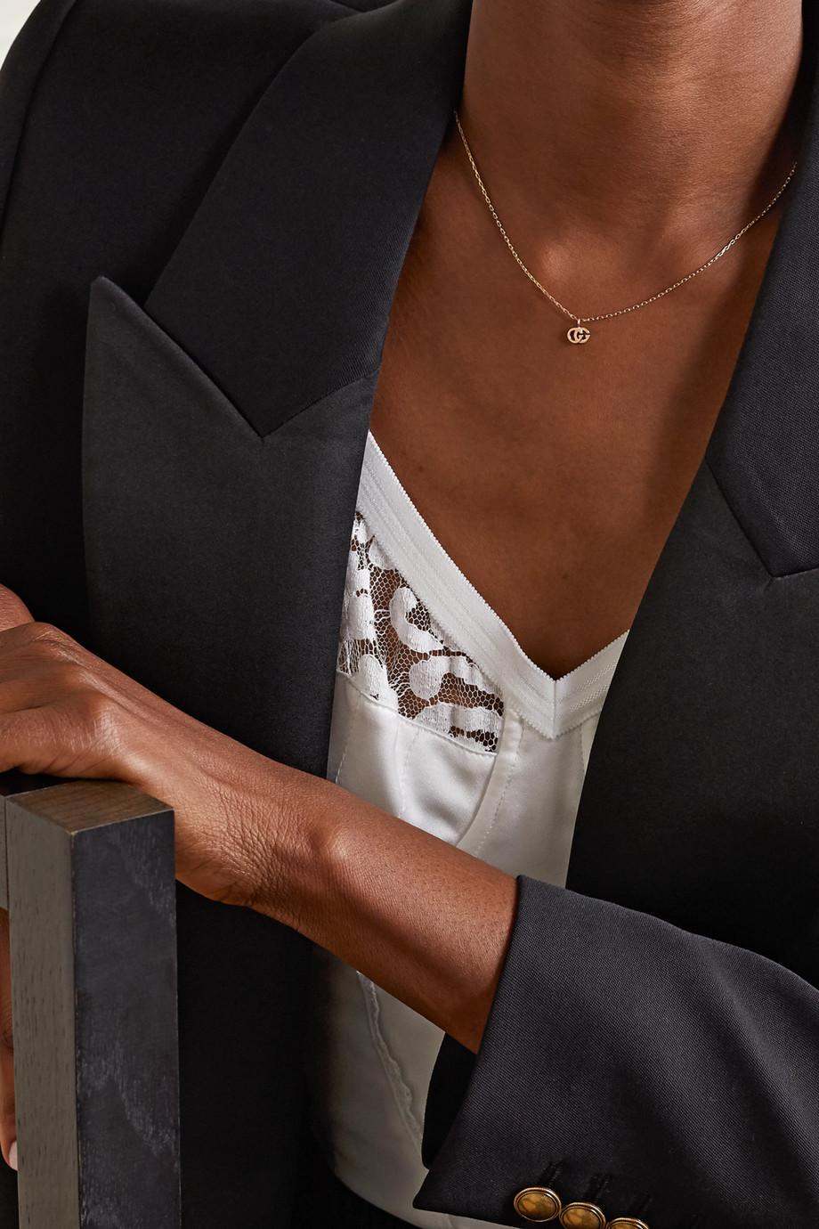 Gucci GG Running 18-karat gold topaz necklace