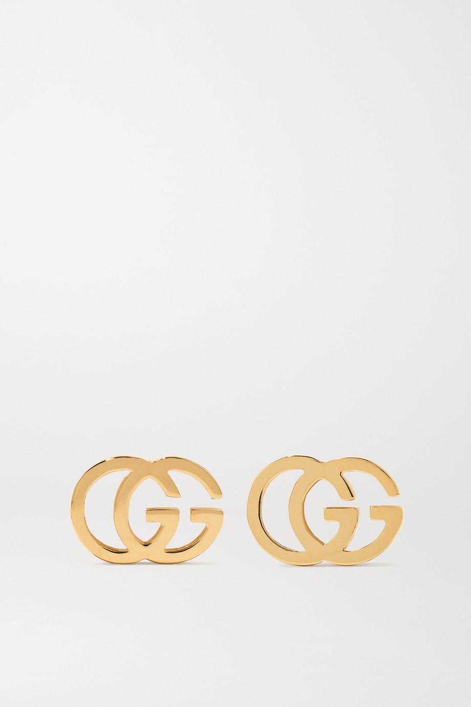 Gucci GG Tissue 18-karat gold earrings