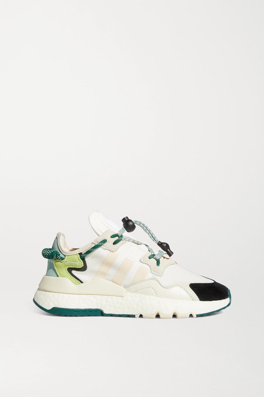 adidas Originals + Ivy Park Nite Jogger ripstop, neoprene and suede sneakers